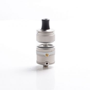 authentic-auguse-era-mtl-rta-rebuildable-tank-atomizer-matte-silver-stainless-steel-glass-3ml-22mm-diameter
